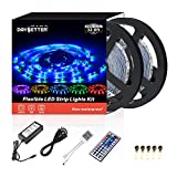 Led Strip Lights 32.8ft 10m 600LEDs Non Waterproof Flexible Color Changing RGB SMD 3528 LED Strip Light Kit with 44 Keys IR Remote Controller and 12V Power Supply NO White Color: more info