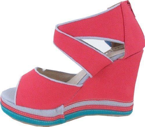 Best Connections Sandalette - Sandalias de vestir de tela para mujer rojo - rojo