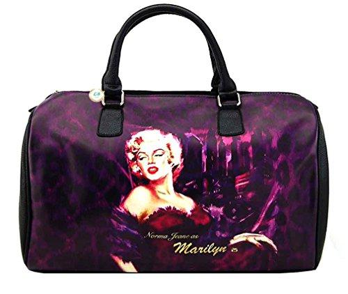Marilyn Monroe Large Travel Bag, Purple, Plus Keychain, MM8123 ()