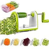 Spiralizer Vegetable Slicer, Deik Spiral Slicer 5 Blade, Strongest Heaviest Duty Veggie Pasta and Spaghetti Maker for Low Healthy Carb/Paleo/Gluten-Free, Super Sucker Upgrade
