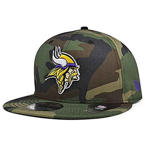 45ccab92 Amazon.com : Minnesota Vikings New Era NFL Woodland Camo 9Fifty ...