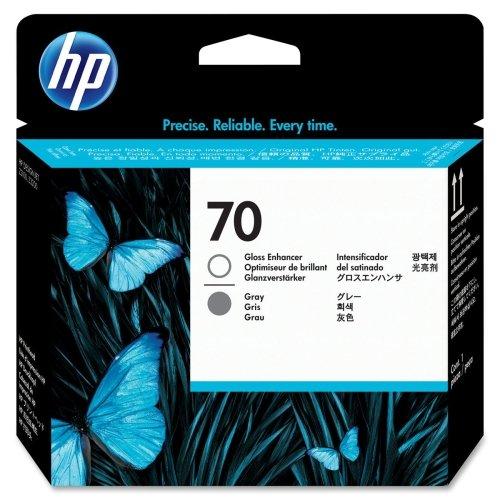HP 70 Gloss Enhancer and Grey Printhead -