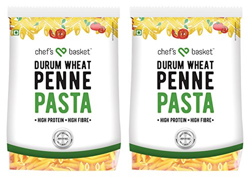 Chef's Basket Durum Wheat Penne Pasta, 500g (Pack of 2)