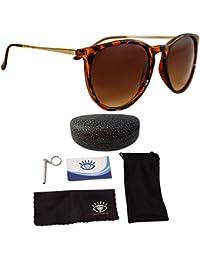 De la Mujer anteojos de sol polarizadas de ojo Love, diseñador, 100% UV bloque + 4Bonos