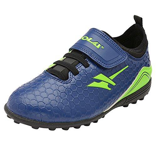 Footwear Studio - Botas de fútbol para niño negro negro Navy & Lime