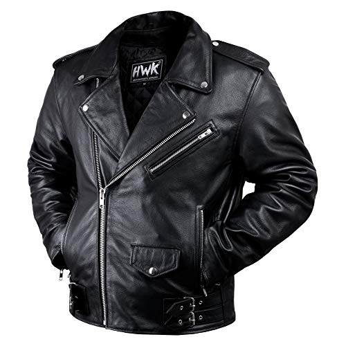 Leather Motorcycle Jacket For