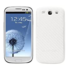 kwmobile Carbon look battery back cover for the Samsung Galaxy S3 / S3 Neo in white colour – complements the design of your Samsung Galaxy S3 / S3 Neo