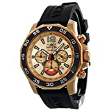 Invicta Signature II Chronograph Nautical Rose Gold-tone Dial Black Rubber Mens Watch 7432, Watch Central