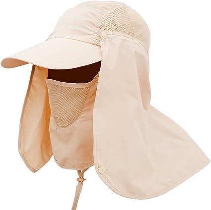 Boonie Outdoor Fishing Camping Neck Cover Bucket Sun Flap Hat Bush Cap Khaki