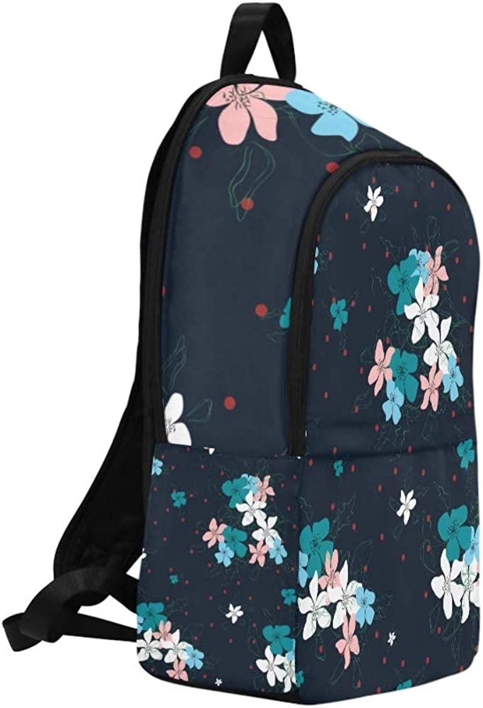 NANA Toddler Sports Bag Pink Retro Flower Do Not Forget Me Durable Water Resistant Classic College Backpack Men School Bag Traveling Makeup Bag Backpacks for Men