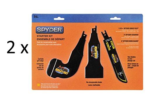 2 x Spyder 900305 Starter Kit with 1/16 Plus Spyder Grout Out...