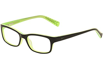 0815076083 Image Unavailable. Image not available for. Color  NIKE Eyeglasses 5513 001  Black Green Crystal 47MM