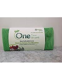 Paquete de 5 bolsas (3 tamaños) reutilizables para fruta y verdura