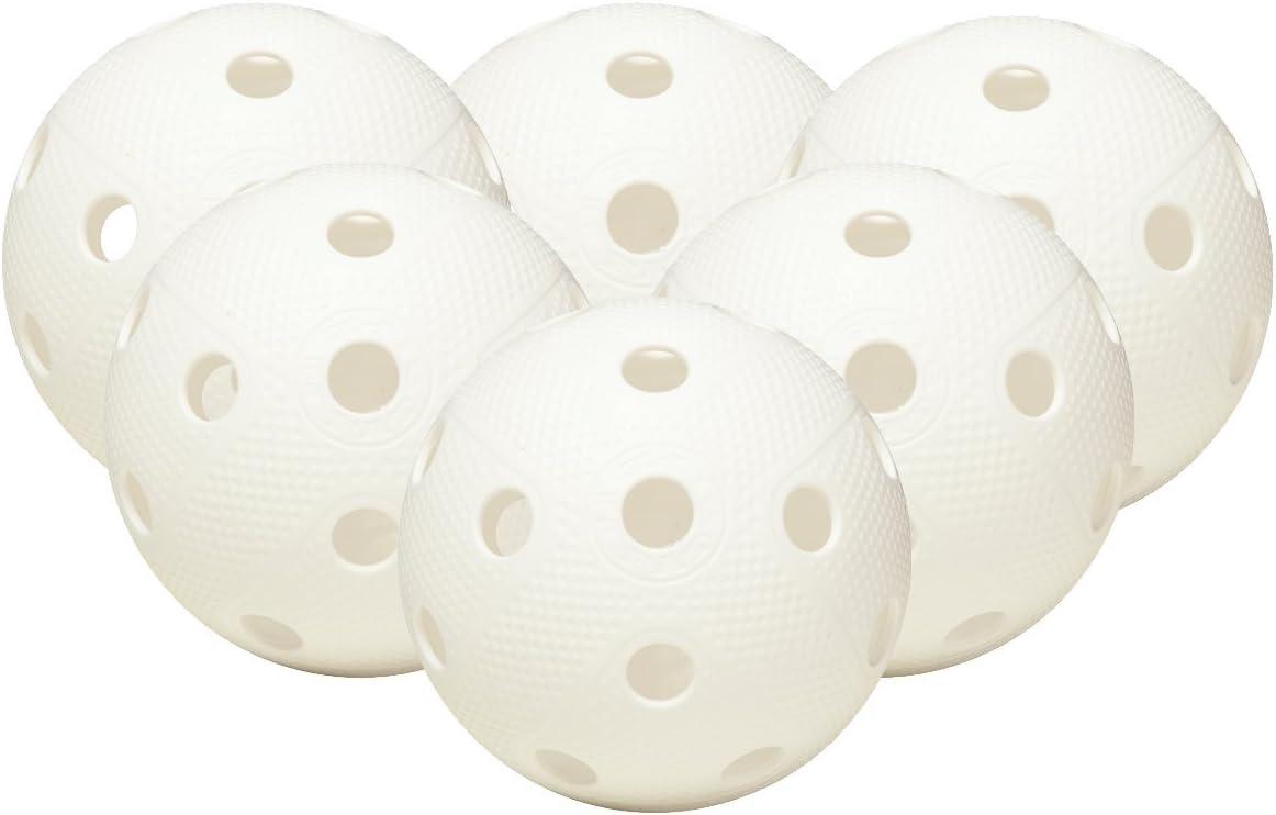 FAT PIPE Floorball / Unihockey Juego de 6 bolas - BLANCO ...