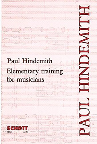 Elementary Training for Musicians (2nd Edition): Paul Hindemith ...
