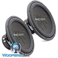 Pair of Soundstream RUB.154 15 550W RMS Dual 4-Ohm Rubicon Series Subwoofer