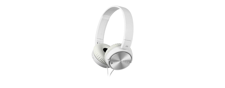 Sony MDRZX110NAW.CE7 - Auricular plegable (cancelación de ruido, autonomía de 80 horas, micrófono incorporado, control remoto para smartphones), ...