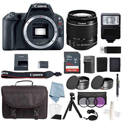Canon EOS Rebel SL2 Bundle With EF-S 18-55mm f/4-5.6 IS STM Lens + Deluxe Accessory Kit – Includes EVERYTHING You Need To Get Started