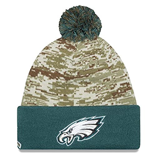 shop philadelphia eagles new era 2015 nfl sideline salute to service sport  knit hat 3d0fb 8e50f 9c86a3ab6