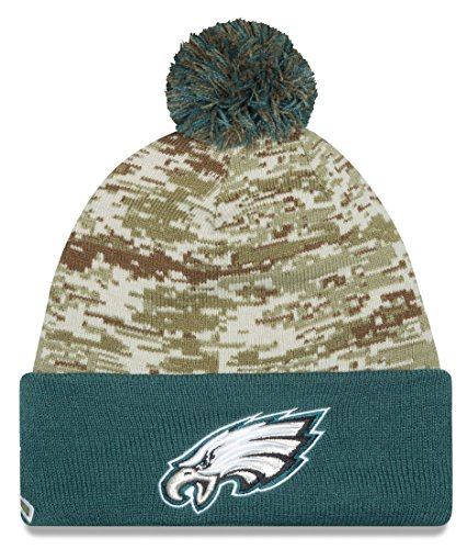 e58fbeeb8 ... shop philadelphia eagles new era 2015 nfl sideline salute to service  sport knit hat 5c194 9b8aa