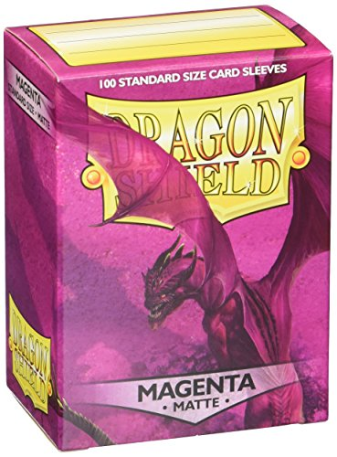 Arcane Tinman Dragon Shield Matte Sleeves - Magenta(100 ct) - 100 Dragon Shield Sleeves