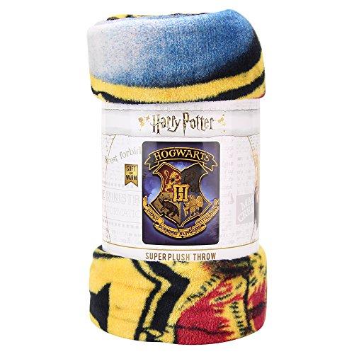 Northwest Kid's Colorful Character Micro Raschel Throw Blanket 46'' x 60'' (Hogwarts Houses) by Northwest (Image #2)