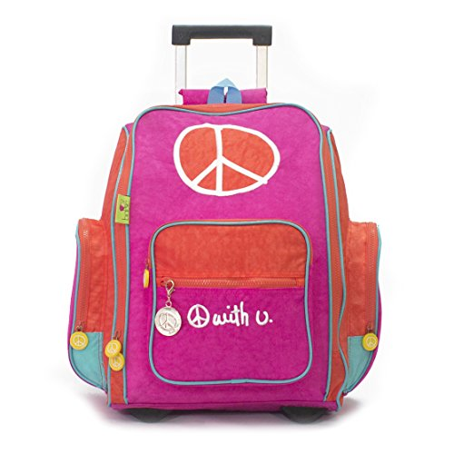 Biglove Rolling Kids Backpack Peace, Multi-Colored, One Size by Big Love