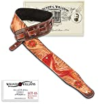 Walker & Williams LCT-15 100% Hand Made Leather Strap with Hand Tooled Red Koi