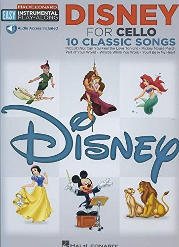Disney: Cello Easy Instrumental Play-Along Book with Online Audio Tracks (Hal Leonard Easy Instrumental Play-Along)