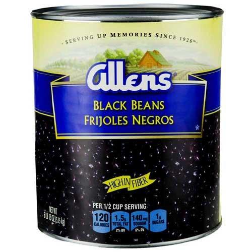 Allen Black Beans, 111 Ounce Can - 6 per case.
