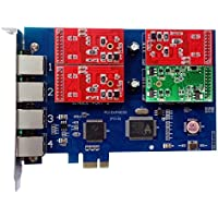 Analog Card with 3 FXO +1 FXS Ports,PCI Express (PCI-E) Connector,For Elastix,Freepbx