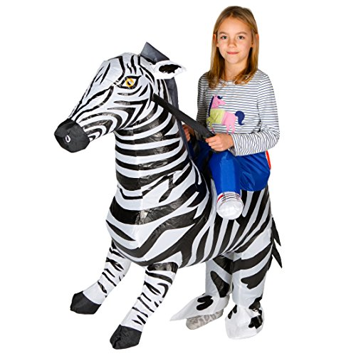 Bodysocks Kids Inflatable Zebra Fancy Dress (Monochrome Halloween Costume)