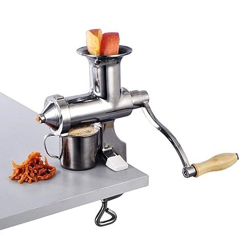 CLDGF Juicer Manual, Extractor De DIY, Acero Inoxidable, Manzana, Apio, Jengibre