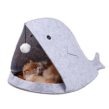 Almohadilla para el saco de dormir de estilo tiburón para mascotas de invierno suave y cálido para gatos y perros pequeños: Amazon.es: Productos para ...