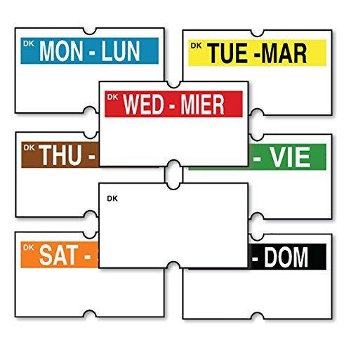 DayMark Date Coder Day-Of-The-Week Plus Blank White Permanent Labels, for DM3 SpeedyMark 10 1-Line Marking Gun (Pack of 8 Rolls)