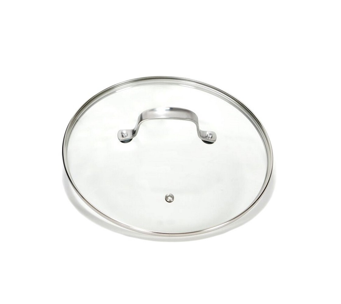 Gotham Steel Clear Tempered Glass Vented Lid - Prevents Pots and Pans from Messy Spillovers (9.5-inch Lid)