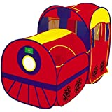 Locomotive Play Tent and Tunnel Pop-Up Red Train - Indoor/Outdoor Playhouse