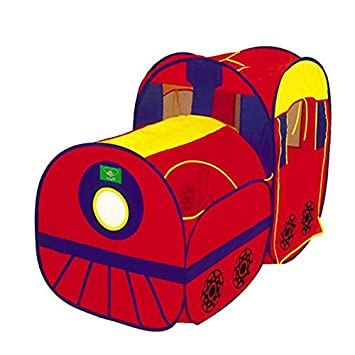 Locomotive Play Tent and Tunnel Pop-Up Red Train - Indoor/Outdoor Playhouse  sc 1 st  Amazon.com & Amazon.com: Locomotive Play Tent and Tunnel Pop-Up Red Train ...