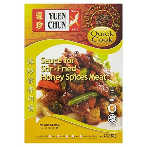 Yuen Chun Salsa Para 80g Stir-Fried Miel Especias Carne