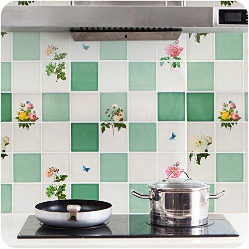 Genial 3PCS Kitchen PVC Aluminum Foil Self Adhensive Mosaic Stickers Oil Proof  Wallpaper Wall Stickers Bathroom