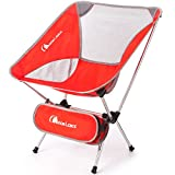 Moon Lence Ultralight Portable Folding Camping Backpacking Chairs with Carry Bag (newred)