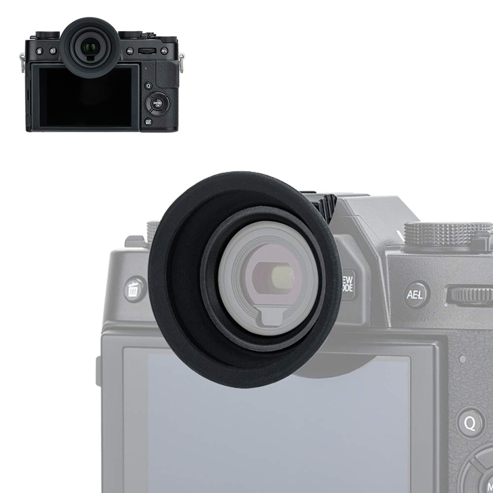 Soft Rubber Eyecup Eyepiece Eyeshade for Fuji Fujifilm X-T30 X-T20 X-T10 XT30 XT20 XT10 Viewfinder Installed via Hot Shoe -Black