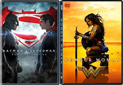 DC Cinematic Universe Wonder Woman & Batman v Superman: Dawn of Justice 2-DVD Bundle Super Hero Double Feature