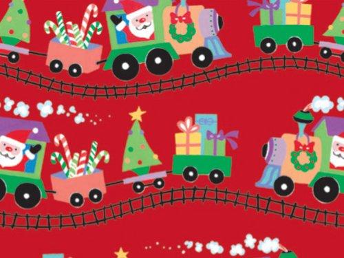 Santa Express Train Gift Wrap Flat Sheet 24