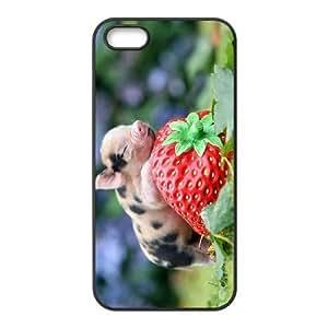 ALICASE Diy Customized Hard Case Cute Pig for iPhone 5,5S [Pattern-1] wangjiang maoyi