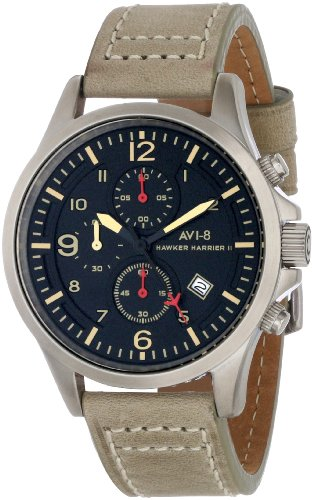 AVI-8 Men's AV-4001-03 Hawker Harrier II Analog Japanese-Quartz Beige Watch