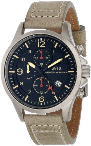 AVI-8 Men's AV-4001-03 Hawker Harrier II Analog Japanese-Quartz Beige Watch