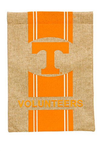 Team Sports America Tennessee Volunteers Burlap Garden Flag, 12.5 x 18 - Of Gardens Shops Stores Pembroke