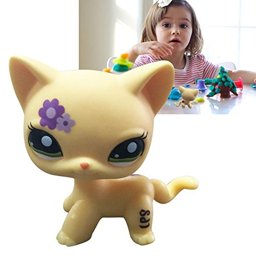 Rare Cat big Eyes Cute Kitten Littlest Pet Shop Toys Animals for Kids - Littlest Pet Kittens Shop