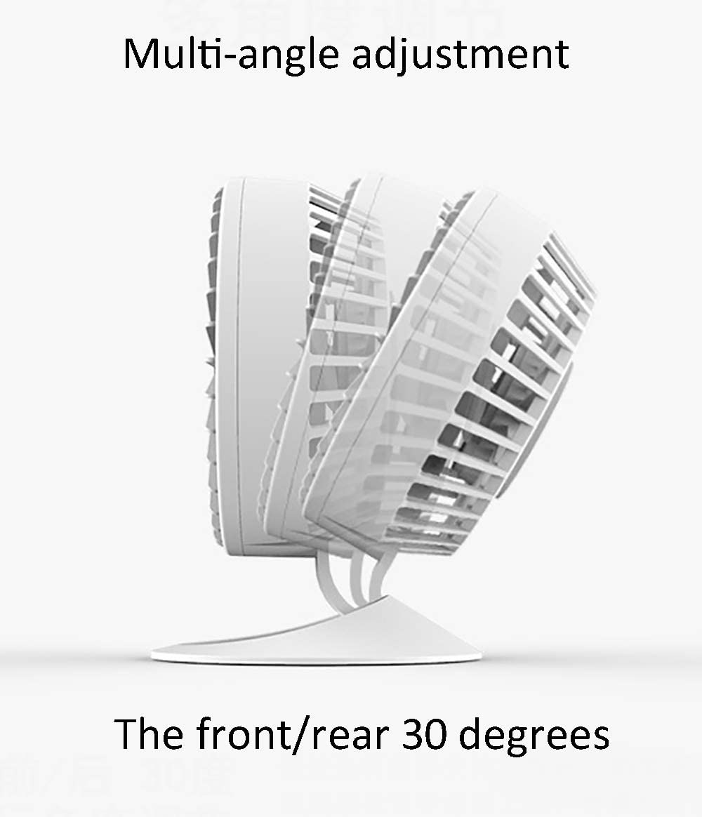 30/° Folding Desktop Mini USB Portable Small Fan Two speeds adapted for Office Family Outdoor Travel